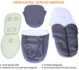 Yoyko Innovation Bebek Arabası 3 in 1 Gri